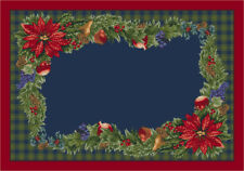 "5x8 Milliken Bountiful 00203 Crimson Red Christmas Area Rug - Approx 5'4""x7'8"""