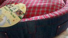 karlie puppy cushion dog bed. Denim cushion. Luxury washable small toy breeds