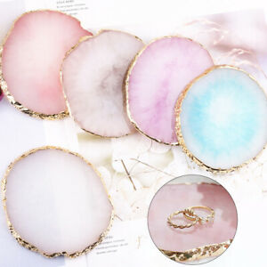 Resin Jewelry Necklace Ring Earrings Display Plate Tray Holder Dish Decoration