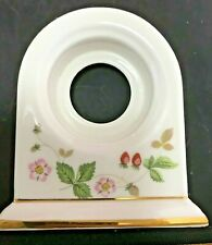 """NEW WEDGWOOD """"WILD STRAWBERRY"""" DOME CLOCK - HOUSING ONLY, NO CLOCK INSERT 2nds"""