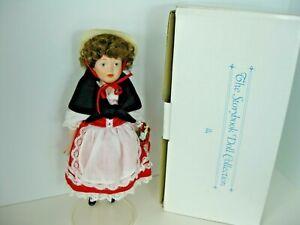 "Danbury Mint Porcelain Storybook Collection Heidi 11"" Doll"