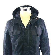 WeSC Ragnar Black Cotton Insulated Hooded Parka Jacket Coat Mens Small NWT $268