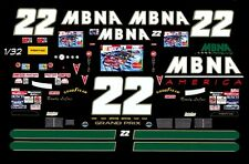 #22 Randy LaJoie MBNA Pontiac 1995 1/32nd Scale Slot Car Waterslide Decals