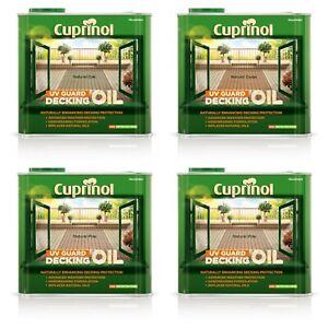 Cuprinol Decking Oil UV Guard Wood Protection Restore Wood 2.5L - More Colours