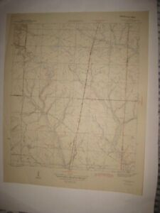 ANTIQUE 1945 FOUNTAIN BAY COUNTY FLORIDA TOPOGRAPHIC MAP TOPOGRAPHICAL WAR DEPT.