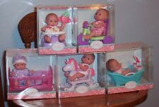 """5 New Berenguer Dolls Lots To Love Babies 5"""" Mini PlaySets Booster Tub HorseCrib"""