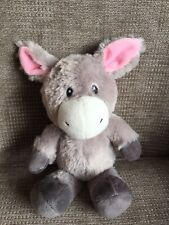 Asda George Donkey Horse Soft Toy Grey With Pink Ears