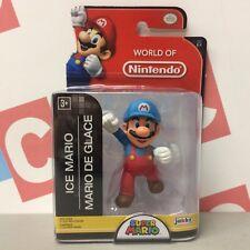 """Jakks Pacific Super Mario 2.5"""" World of Nintendo World 2-3 Ice Mario Figure"""