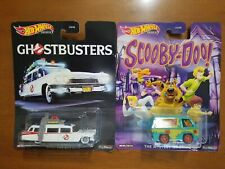 Hot Wheels Premium 2019 GHOSTBUSTERS ECTO-1 and SCOOBY DOO MYSTERY MACHINE