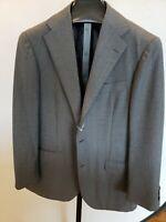 NWOT New * RING JACKET * $2400 Japan Gray Herringbone  Wool Suit 42R