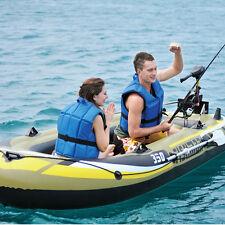 Aufblasbare Boot Kajak Angeln Yacht Fischerboote Set mit Ruder und Luftpumpe