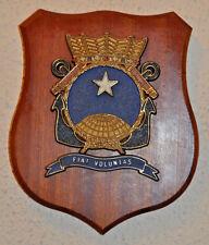 Hr Ms Poolster ward room plaque shield crest Dutch Navy Netherlands gedenkplaat