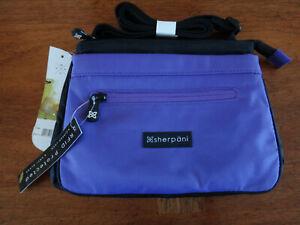 Sherpani Zoom Purple Black Crossbody Purse Shoulder Bag - NEW with Tags