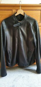 Belstaff motorcycle jacket Size 52 Black LEATHER