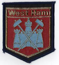 Original Vintage 1970s Football Sew On Patch West Ham United Cloth Badge Unused