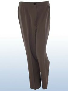 pantalone pants donna marrone tortora affusolato lana vergine taglia it 41 w 27