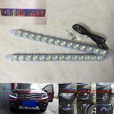 2pcs 14 LED Flexible Strip Car DRL Daytime Running Light Driving Fog Day Lamp