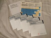 """1985 MultiMate Pro Word Processing 3.3 Manual 5 Disks 5.25"""" Floppy Key Labels"""