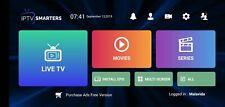 Smarters Pro 12 Mois Abonnement smart tv, m3u, android, IOS (Envoi Rapide )