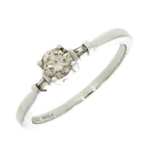 Pre Owned 18ct White Gold 0.34ct Diamond Solitaire Ring RA640
