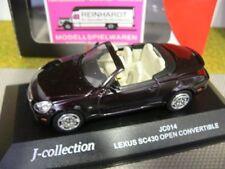 1/43 J-Collection JC014 Lexus SC430 Cabrio offen schwarzrot