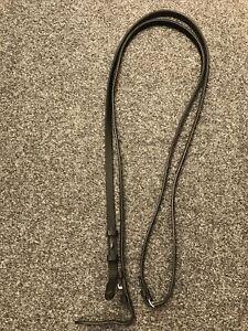 Black half rubber reins