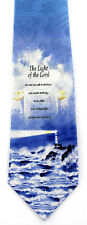 Light of the Lord Mens Necktie Christian Jesus Lighthouse Religious Neck Tie New