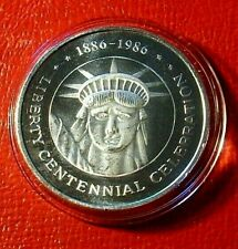 1986 Liberty Centennial Celebration Art Round 1 Troy oz.999 Fine Silver Capsule