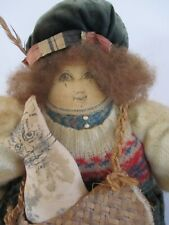 Handmade Cloth Doll Cat Karen Ericsson Martin 1980 As Is Antique Baby Shoes