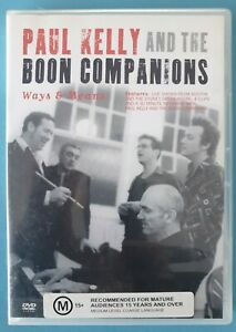 Paul Kelly And The Boon Companions - Ways & Means DVD (2004, As New)