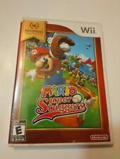 Mario Super Sluggers W/ Manual & Insert   Nintendo Selects - Wii   Tested