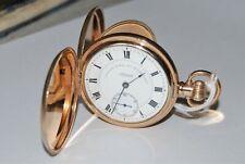 Beautiful Antique Gold/P. Gents 15 Jewel Waltham Hunter Pocket Watch. 1924