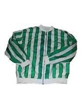 Mens Adidas Green White Striped Nylon Tennis Jacket Windbreaker sz XL