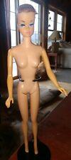 Vintage 1962 Painted Hair Midge Barbie Doll nude solid plastic body