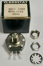 Clarostat Rv4laysa104a Potentiometer 100k Ohm 10 Screwdriver Shaft