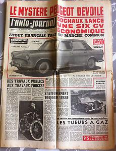 >L'AUTO-JOURNAL n°215 du 2/1959; Dyna 59 à L'essai/ Fiat 1800/ Standard/Monte ca