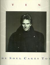 RARE / PROGRAMME DE CONCERT - STING : LIVE A PARIS ( FRANCE ) 1991 / PROGRAM