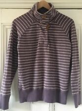 Joules Wadebridge Women's Purple & White Striped Sweatshirt Top XS UK 8 EU 36