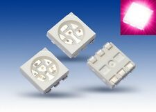 S929 - 100 pezzi SMD LED PLCC-6 5050 FUCSIA ROSA 3-CHIP LED