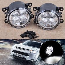 2x Highlighted LED Fog Light Fit For Ford Focus Acura Honda Subaru Nissan Suzuki