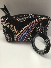 Vera Bradley Mirror Cosmetic Case in Bandana Swirl - Quilted - Mirror Attached