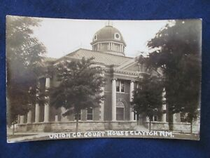 RP Clayton New Mexico Union County Court House ca1930 Postcard