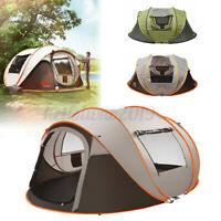 5-8 Person Zelt Familienzelt Campingzelt Kuppelzelt Automatische Strandzelt grü