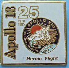 PIN enamel APOLLO 13 - 25th Anniversary 1970-95 vtg - Heroic Flight NASA