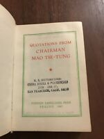 QUOTATIONS FROM CHAIRMAN MAO TSE-TUNG 1967 2nd Edition English Rare !!