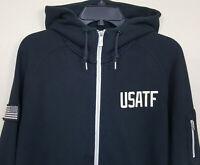 NIKE USATF USA TRACK & FIELD HOODIE SWEATSHIRT BLACK RARE 457719-010 (SZ LARGE)