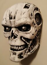 T- 800 terminator 2 cyborg head movie collectable WALL HANGER grey aged