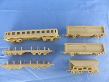 GERMANY Jean HÖFLER ? lot de 6 wagons plastique prototypes ??? échelle Ho