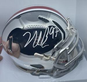 Nick Bosa Signed Mini Helmet Ohio State Chrome 49ers Beckett Cert Auto