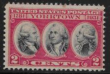 US Scott #703, Single 1931 Yorktown 2c FVF MNH
